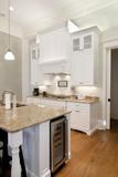 opulent white kitchen poster