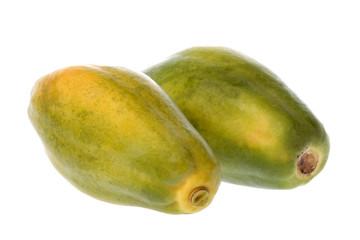 Papayas Isolated