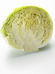 shot of cabbage on the white background