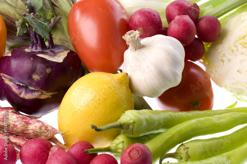 Mixed Vegetables Isolated