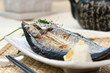 prepared and delicious japanesefood-mackerel pike