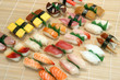 prepared and delicious japanese food-sushi