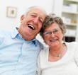 Portrait of a smiling senior couple together