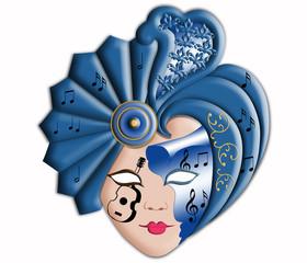 Wonderful Carnival mask of Venice