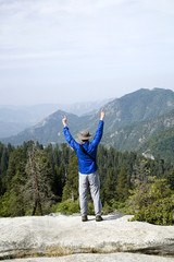 Hiker Shows Sign of Victory