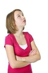 Teenage girl in trouble