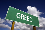 Greed Road Sign poster