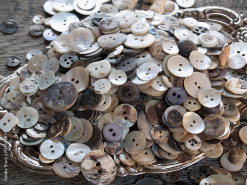 Perfectly imperfect old shell buttons