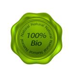 Green biological wax seal poster