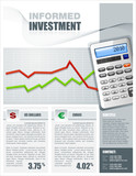 Financial Investment Brochure poster