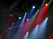 Leinwanddruck Bild - stage lights