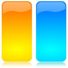 Barre vettoriali verticali gialla azzurra