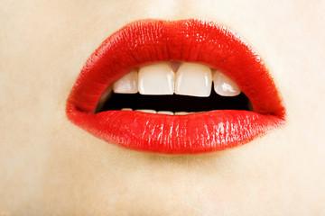 beautiful red lips