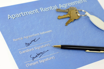 signed rental agreement