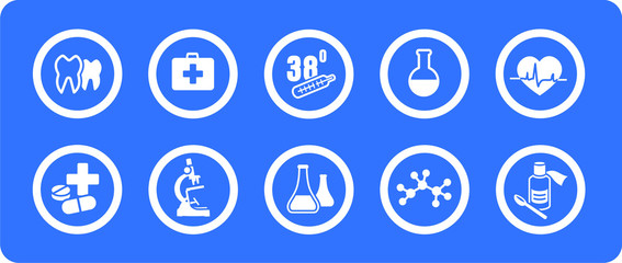 Medicine vector icons set