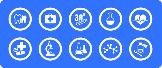 Medicine vector icons set