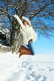 Fototapety snow dream jumping