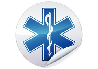 Sticker Symbole métal de l'ambulance