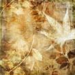 Quadro vintage leafy paper
