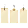 Tags. Set of three decorative labels.