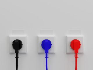 Three sockets