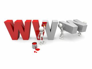 WWW in allestimento