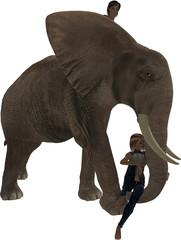 Children on Elephant
