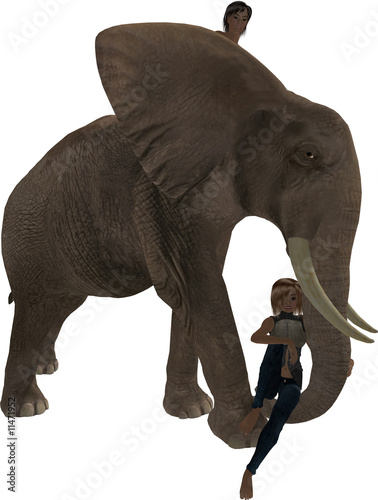 Children on Elephant