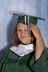 purposely bad graduation picture