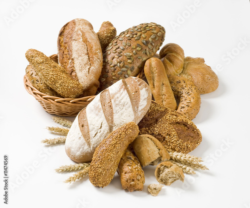 Fotobehang Brood Variety of whole wheat bread