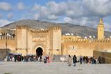 Tor zur Medina in Fes, Marokko poster