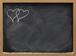 be my Valentine - interlaced hearts on a blackboard