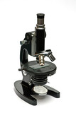 old optical microscope isolated