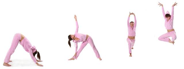 pink yoga