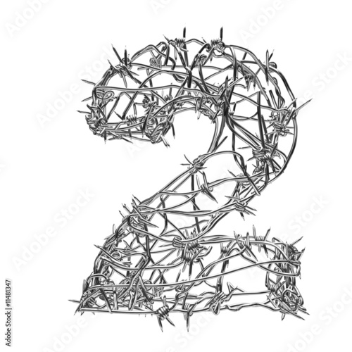 barbed wire font. Barbed wire font 2