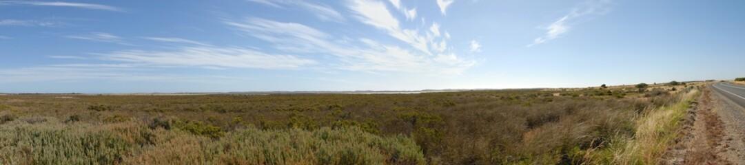 Panorama de l'outback en Australie