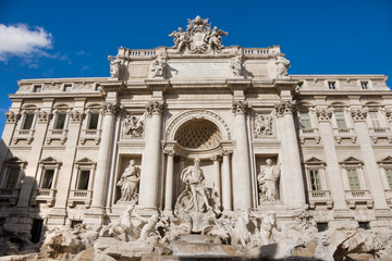 The Famous Trevi Fountain, rome, Italy.