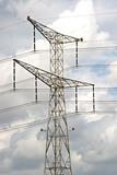 An overhead power line poster