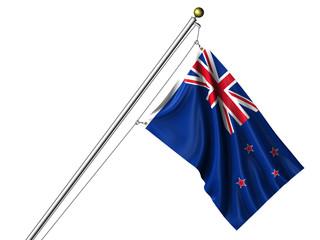 Isolated New Zealand Flag