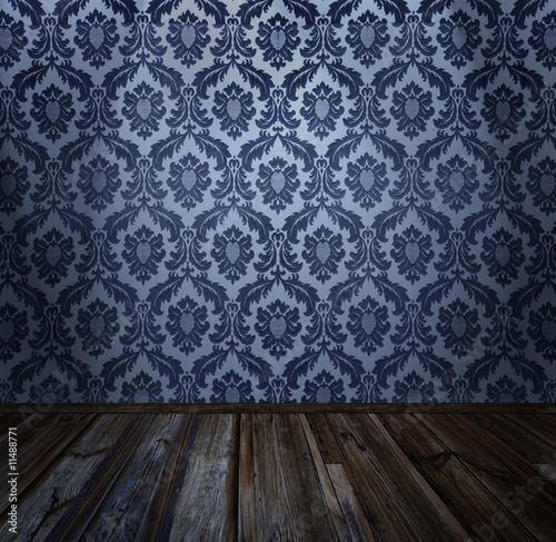 antique wallpaper. wallpaper, wooden floor