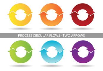 Presentation Graphics - Two Arrow Process Circular Flow