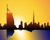 Fototapety Sonnenuntergang in Dubai