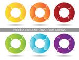 Presentation Graphic - Four Arrow Process Circular Flow