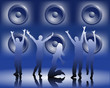 tanzende Menschen in der Disco