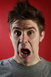 Man with shocked expression poster