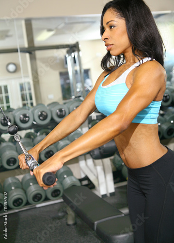 Woman Doing Pulling Bar