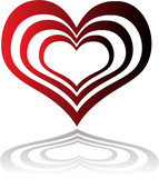 heart insert red poster