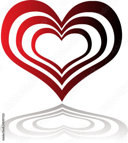 poster of heart insert red