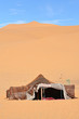 The nomad (Berber) tents in the Sahara, Morocco