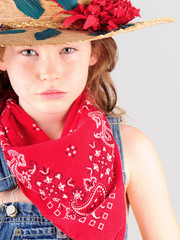 Young girl in country clothes